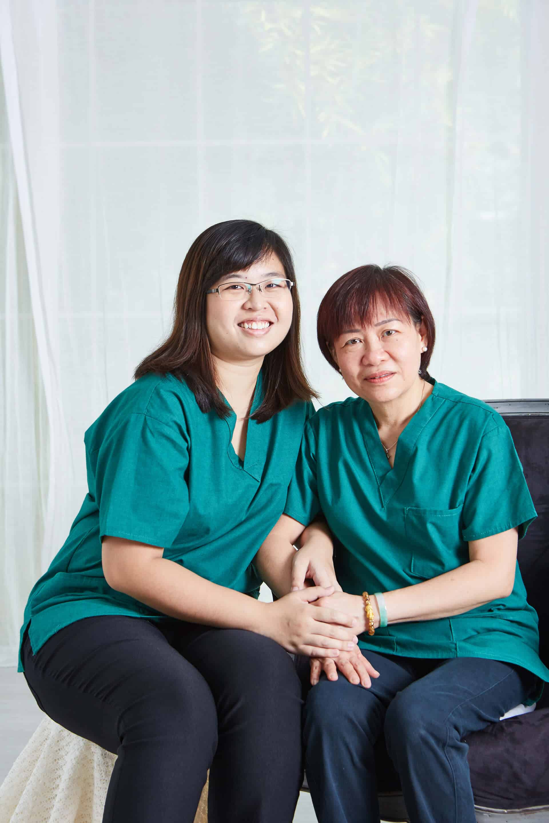 Clinic Managers - Ms Adeline Aw & Ms Jessie Pek