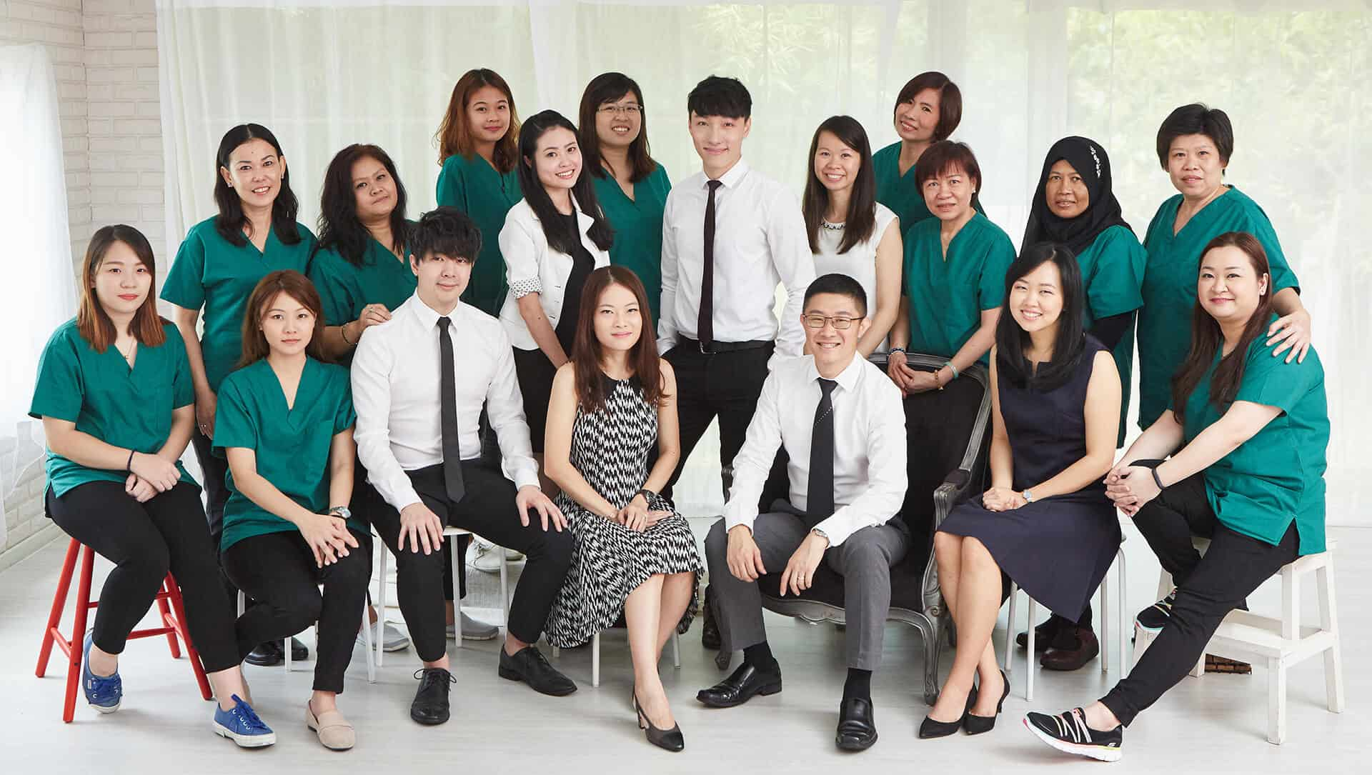 AllSmilesDental Dentist Family - Group Photo